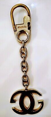 GUCCI Authentic Genuine GG Double G Keychain Key Ring Key Chain Vintage '72 NYC