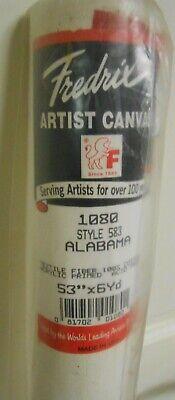 "Full New Roll Frederix Artist Canvas 53"" x 6 Yd 100% Cotton Alabama 583 AcidFree"