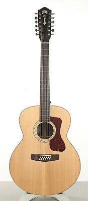Guild F-1512E Jumbo 12-string Acoustic-Electric Guitar w/ Case - Side Rim Crack