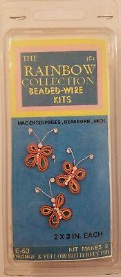 Perlenbesetzt Kabel Schmetterling Pins Brosche Schmuck Perlung Bastel Set Mac