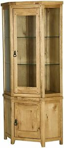 Monza-solid-oak-furniture-glazed-corner-display-cabinet-stand-unit