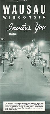 Vintage Brochure for Wausau Wisconsin