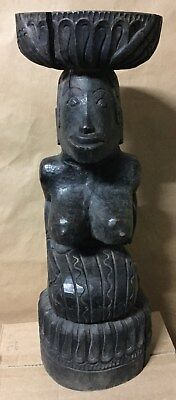 Antiques/ Vintage Indonesian  Wood Carved Totem 56cm High #2