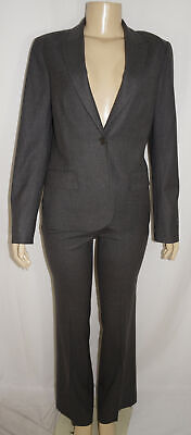 Theory Pant Suit Size 8 Women Charcoal Pant Wool Blend