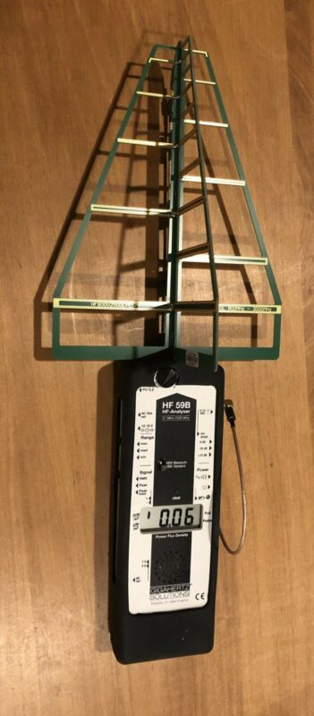 Gigahertz Solutions HF59B RF Meter, Antenna, Case, Charger