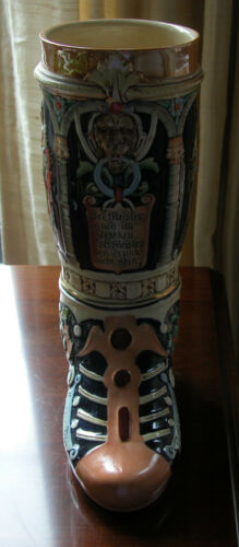 LARGE VINTAGE GERMAN DRINKING BOOT - WESTERN GERMANY