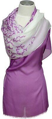 Floral Bedruckte Schal ( Schal 100% Modal leicht, bedruckt Sommer  stole summer Lavender Floral Flieder)