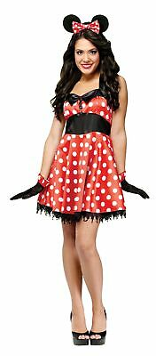 Retro Miss Mouse Costume Fancy Minnie Dress Halloween Red White Polka Dot Med-Lg](Missy Mouse Halloween Costume)