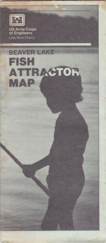 c1980 Beaver Lake Fist Attractor Map Brochure