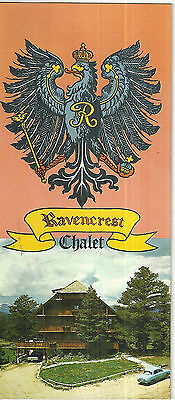 Ravencrest Chalet Resort Hotel Brochure Estes Park Colorado