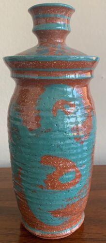 Vintage Lidded Jar Stoneware Ceramic Studio Pottery Deyoe Frith Mid Century Mod