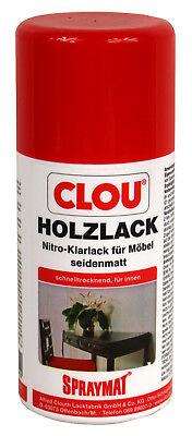 Lack Farblos Holz (Clou Spraymat Holzlack farblos 0,3L Nitrolack Klarlack Nitro Lack seidenmatt)