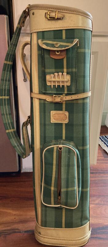 Vintage Hughes Patent Golf Bag Green Plaid Cabin Cottage Decor