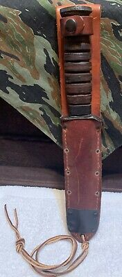 Nice Vintage WWII M3 Trench Knife Reproduction w/ Camillus M6 Scabbard /