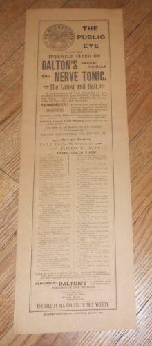 c1895 Antique Quack Medicine Broadside Dalton
