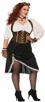 Plus Size Steampunk Costume (Steampunk Lady Womens Plus Size Costume Victorian Cosplay)