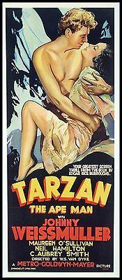 Tarzan The Ape Man Fridge Magnet 4X9 Magnetic Movie Poster Canvas Print