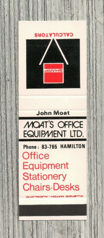 Matchbook Cover-Moat