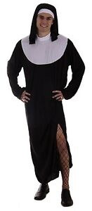 FANCY DRESS MALE NUN ONE SIZE FITS UP TO 48