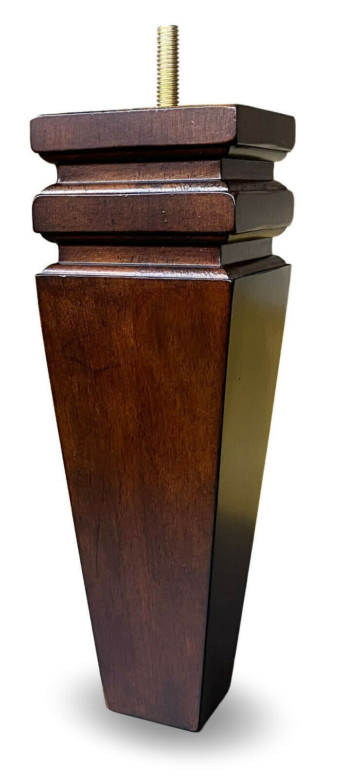 8″ Walnut Finish Square Tapered Sofa Furniture Legs – Set of 4 Furniture