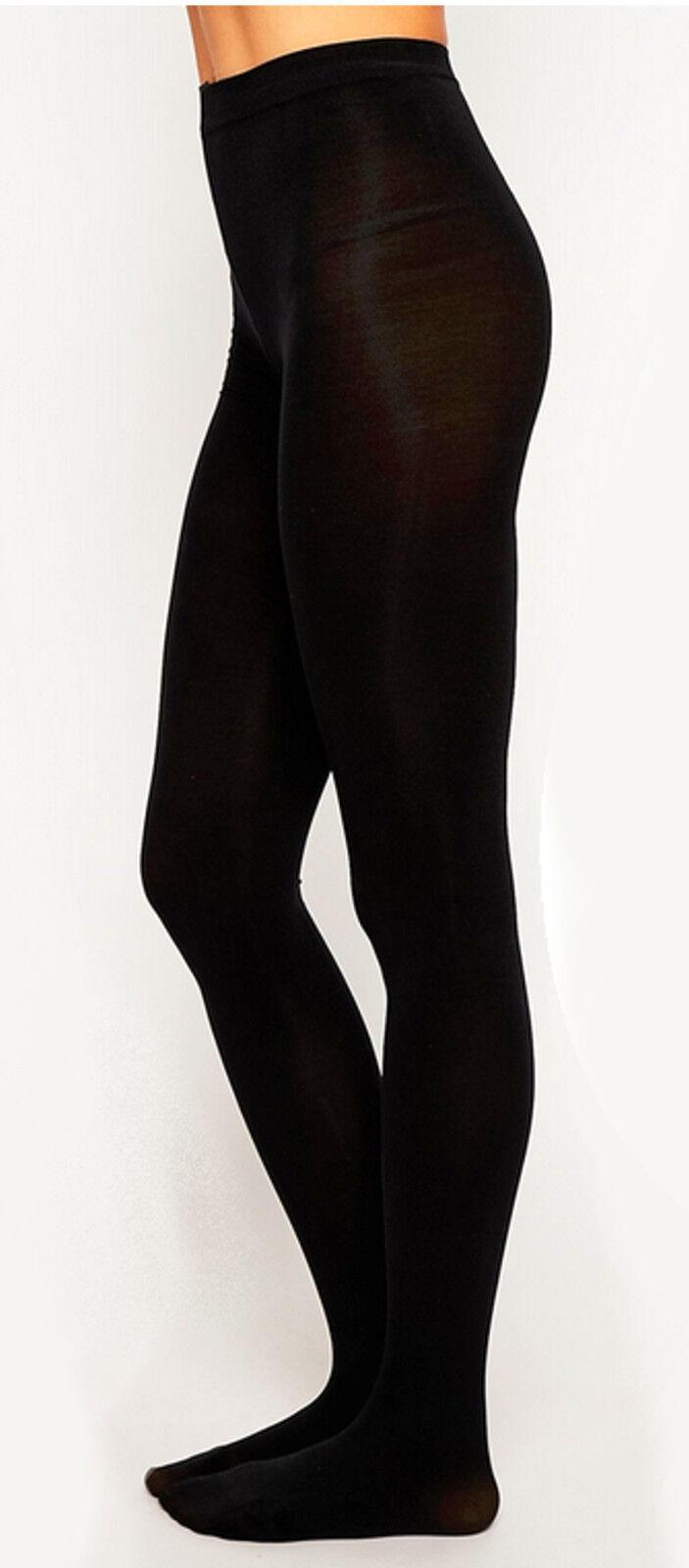 NEU  blickdichte Nylon Strumpfhosen für große Frauen Pantyhose Farbe SCHWARZ