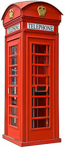 Sticker trompe l 39 oeil cabine t l phonique anglaise - Cabine telephonique anglaise a vendre ...
