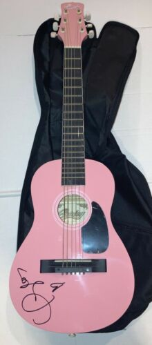 """Taylor Swift REAL hand SIGNED Pink 32"""" Acoustic Guitar Signed ON BODY JSA LOA"""