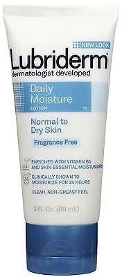 Lubriderm Daily Moisture Lotion Fragrance Free 3 oz