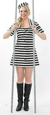 KarnevalsTeufel Sträflingsdame 1-tlg. Kleid ohne Mütze Sträfling JGA - Sträfling Kostüm Weiblich
