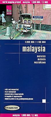 Map of Malaysia, Sarawak, Sabah - Borneo - by Reise Know How Maps