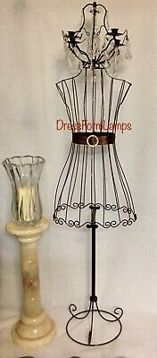 Full Body Metal Mannequin Lamp Brown High Gloss Shimmer