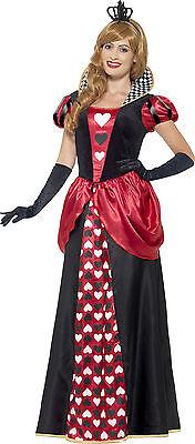 Königliches Herzdamen Kostüm NEU - Damen Karneval Fasching Verkleidung Kostüm