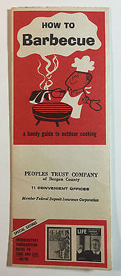 How To Barbecue Time Magazine Brochure For Peoples Trust Co Of Bergen County Nj