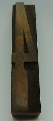 Vintage Wood Number 4 Letterpress Printer Block Type 78 X 4 18