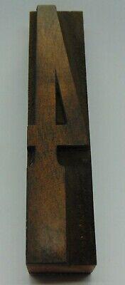 Vintage Wood Number 4 Letterpress Printer Block Type 78 X 4 18