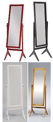 Legacy Decor Wood Rectangular Cheval Floor Mirror, Free Standing -