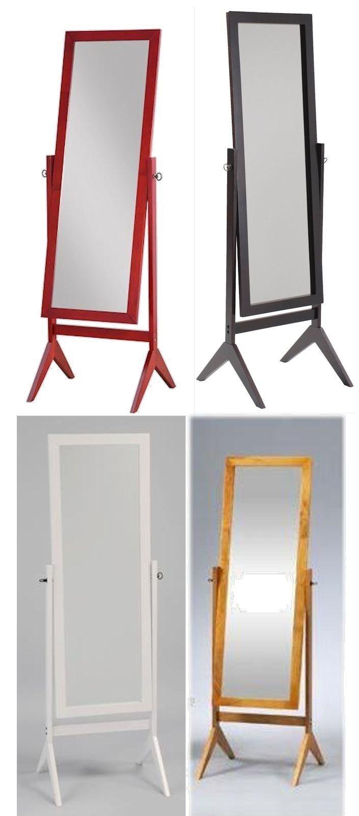 wood rectangular cheval floor mirror free standing