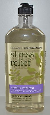 - BATH & BODY WORKS AROMATHERAPY STRESS RELIEF VANILLA VERBENA WASH FOAM GEL 10 OZ