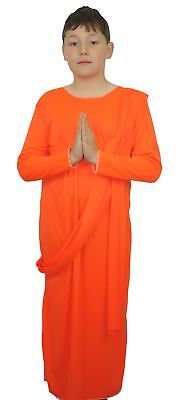 The Dragons Den Kids Costume Buddhist Monk Fancy Dress Childs Age 8-12 - Child Monk Costume