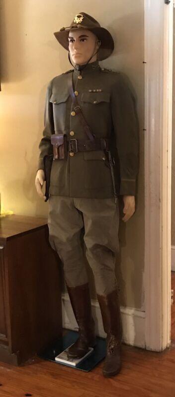 WWI M1924 Spec 8-31 Officer Service Uniform; 108th Cavalry, Georgia National Grd