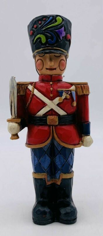 "Jim Shore Heartwood Creek Miniature 4"" Toy Soldier with Sword Figurine Christmas"
