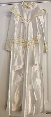 Jasmine Disney Princess Halloween Costume White & Gold Dress Up Girls 7-10 - White Gold Dress Halloween