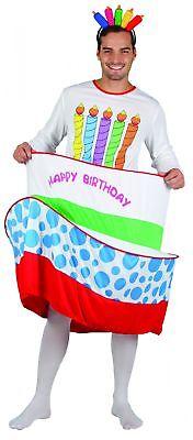 Geburtstagskuchen-Kostüm für Herren - Geburtstag Kuchen Kostüm