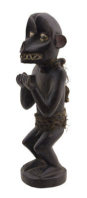 Barked Figure ape-like zoomorphic Monkey Baoulé Gbekre Art african 16635