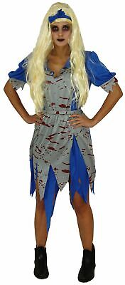 Märchen Vampir Damen Kostüm Halloween Horror Party blau - Blaue Halloween Kostüme