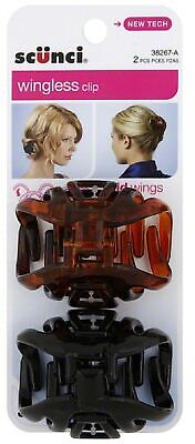 Scunci Hair Clip, Wingless 2 ea (Pack of 4)
