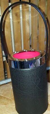 Sektkühler, Weinkühler Flaschenkühler Leder imitat schwarz