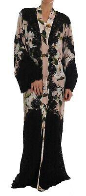 NEW $5000 DOLCE & GABBANA Dress Cape Floral Lace Peonies Kaftan Abaya IT 42/US 8