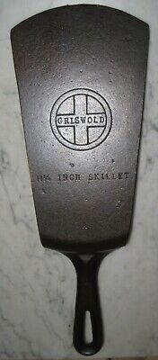 Vintage Cast Iron Griswold #9 Spatula From A Cracked / Damaged Skillet