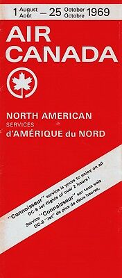 Air Canada North American Timetable  August 1  1969